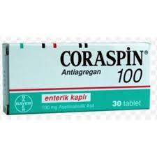 Kan Sulandırıcı Kuvvetli Bir İlaç; Coraspin 100 mg Tablet