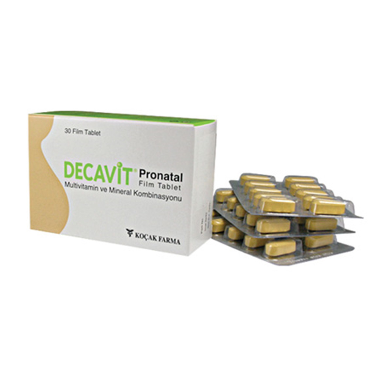 Doktor Tavsiyeli Demir İlacı; Decavit Pronatal Film Tablet